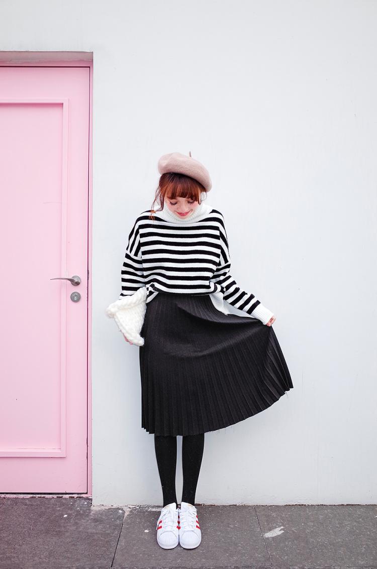【百褶裙】-衣服-半身裙