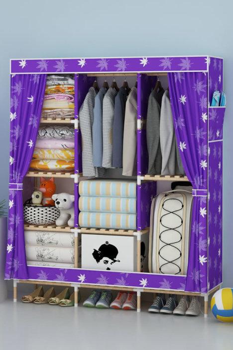 木质衣柜 组装简易衣柜
