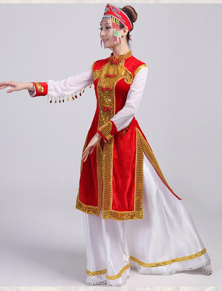 少数民族服装蒙古族服饰蒙古服装演出服装舞蹈女裙袍舞台服装新款