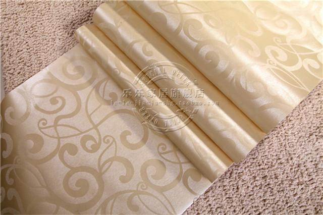 【自粘墙纸防水壁纸金色银白色欧式祥云客厅ktv卧室
