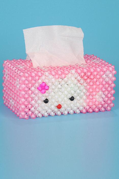 纸巾盒,手工,串珠,摆件