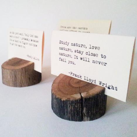 【原生态实木名片盒天然名片底座纯手工创意设计个性