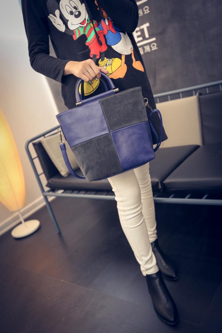 【欧式撞色风格主义拼接手提包】-包包-箱包皮具/女包