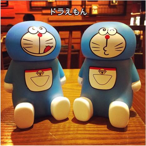 创意3d蓝胖子萌萌表情保温杯韩版可爱学生情侣水壶卡通水杯子