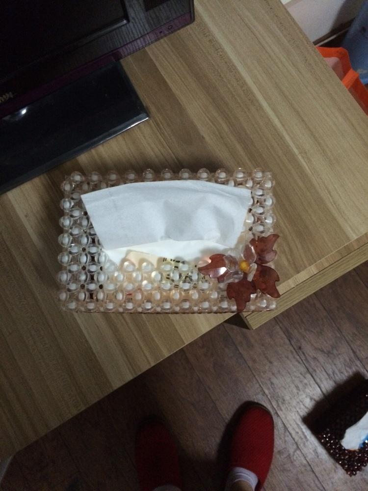 【串珠餐巾纸盒】-无类目-百货