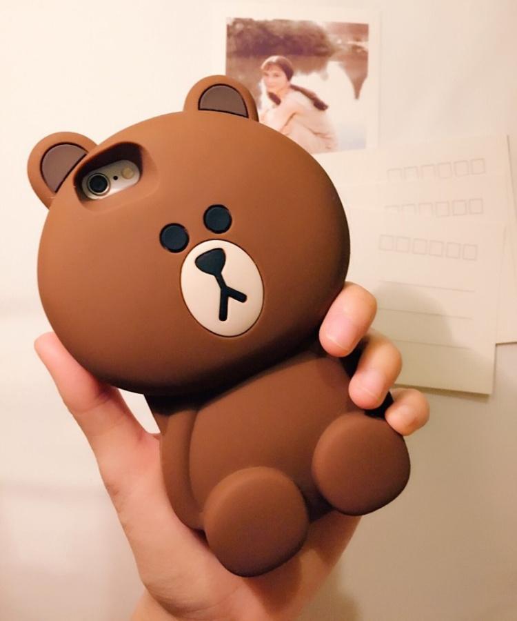 新款布朗熊可爱立体 iphone oppo 小米 三星手机壳