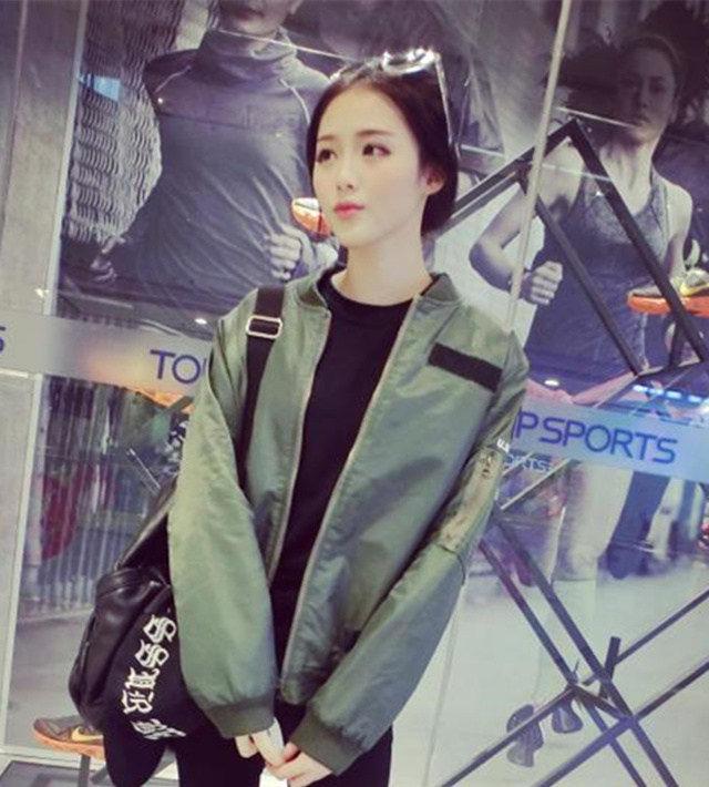 【权志龙同款加棉棒球服外套】-衣服-棒球外套