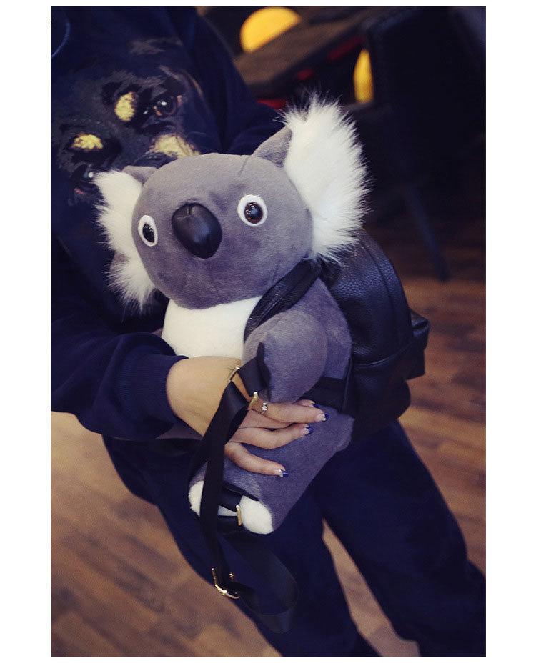 【超萌可爱毛绒小熊包包双肩包考拉熊背包背包】