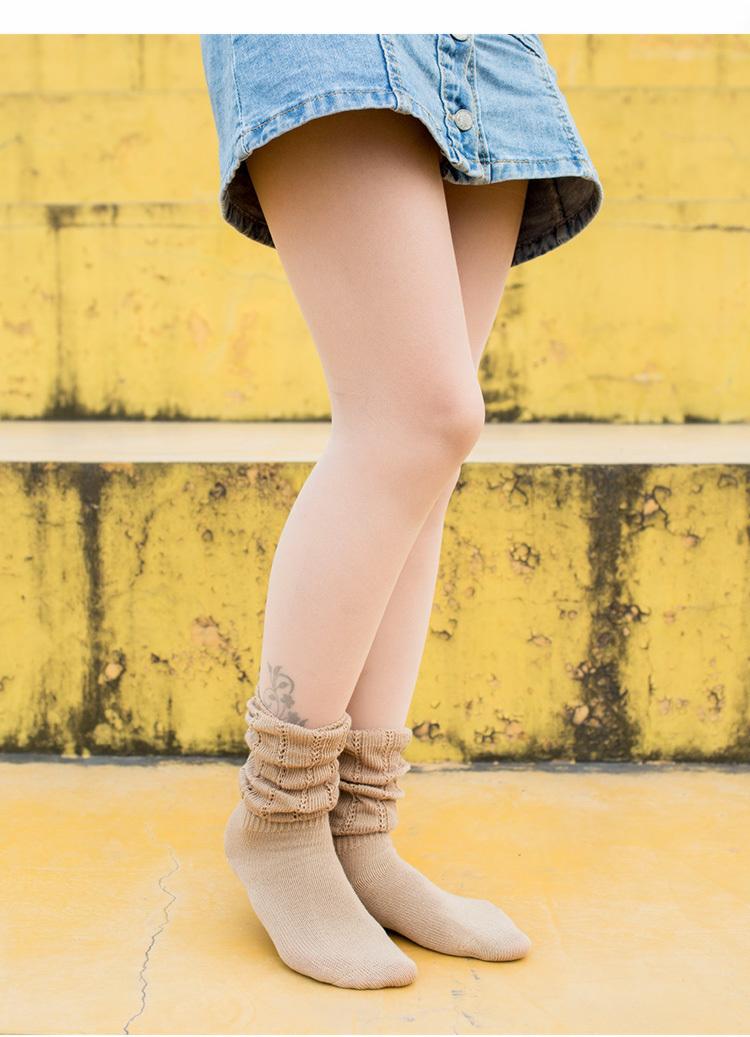 【泡泡袜薄款堆堆袜【2双装】】-家居-女士内衣/家居