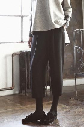 长沙蘑菇街团购,冬季复古七分休闲阔腿裤