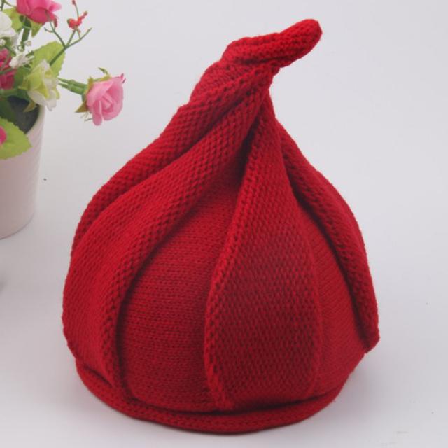 韩版新款秋冬南瓜帽儿童帽子尖尖洋葱针织男女宝宝儿童毛线帽子
