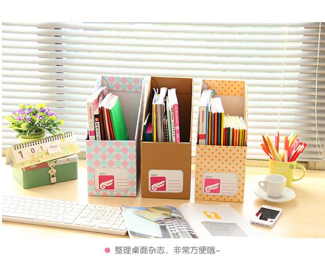 【桌面书架文件整理收纳盒寝室神器】-家居-百货