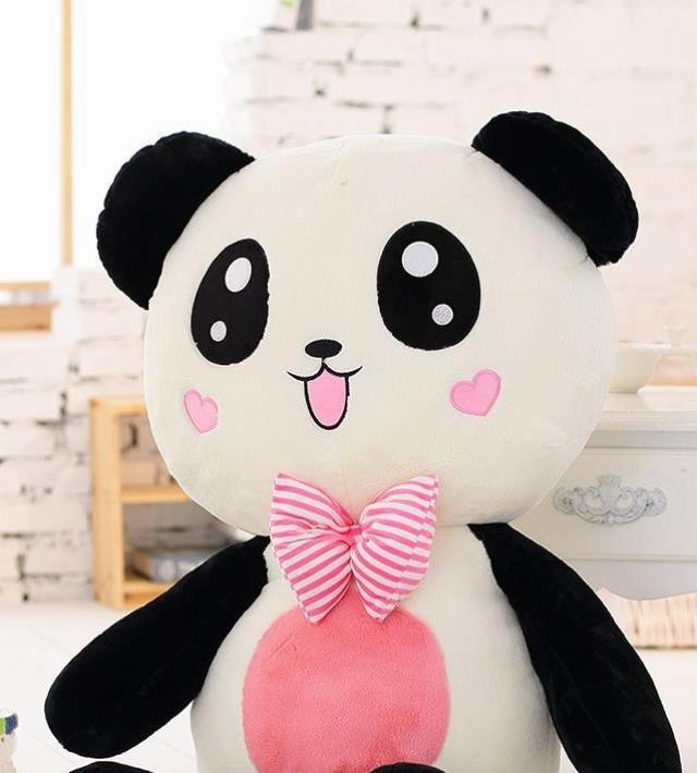 萌萌哒-泰迪熊毛绒玩具小熊猫公仔抱枕大号趴趴熊娃娃抱抱熊儿图片