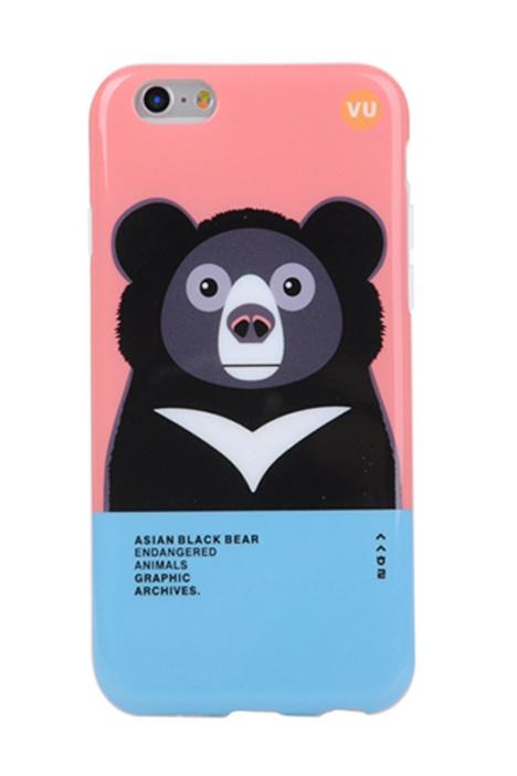 【韩国撞色小动物苹果6/6plus情侣软手机壳】-配饰
