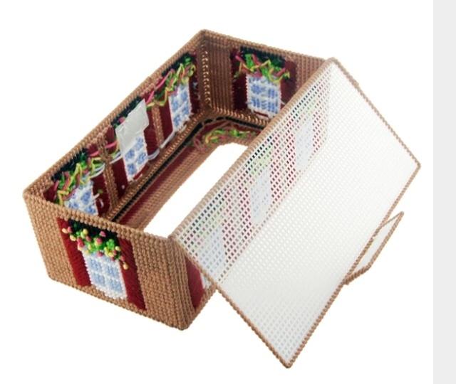 【立体绣套件3d十字绣客厅新款房子纸巾盒抽纸盒印花