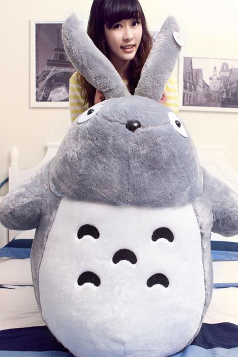 【龙猫公仔大龙猫抱枕毛绒玩具布娃娃】-家居-玩具