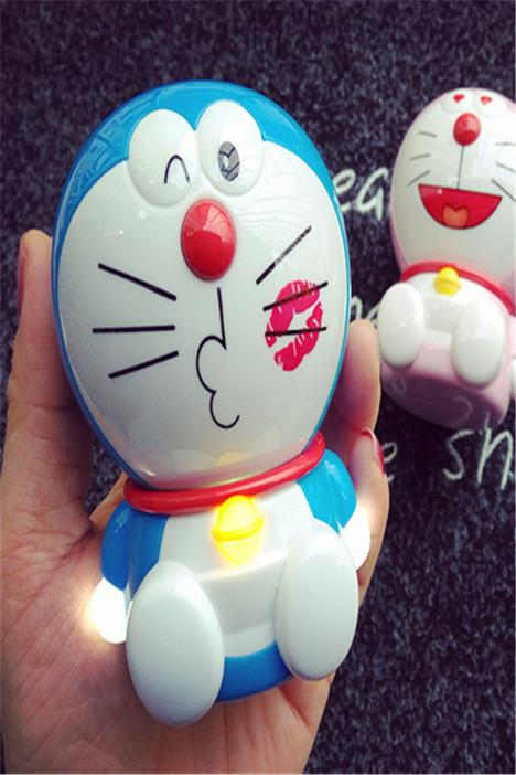 创意哆啦a梦机器猫充电宝vivo华为手机通用立体猫移动电源