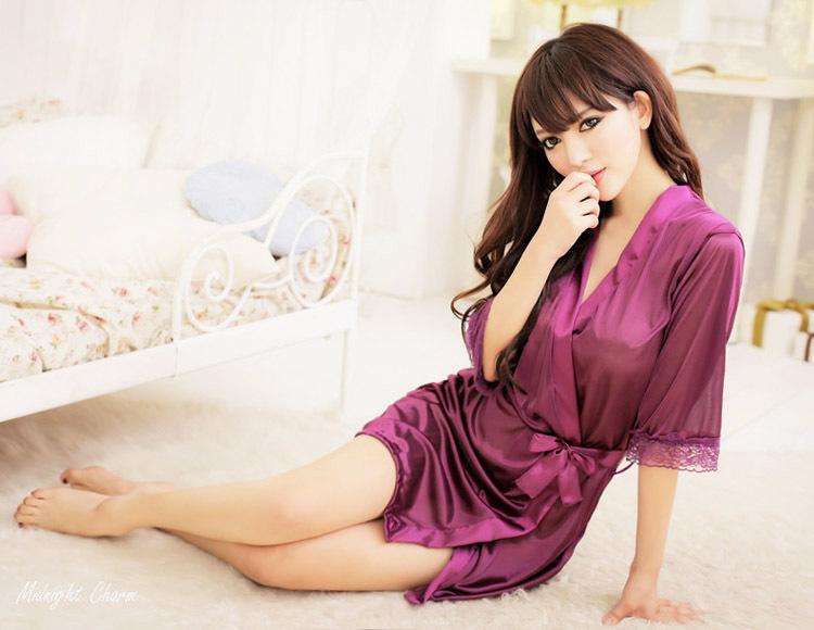 【情趣睡衣裙蕾丝花边透和服套装性感诱惑情趣内衣】