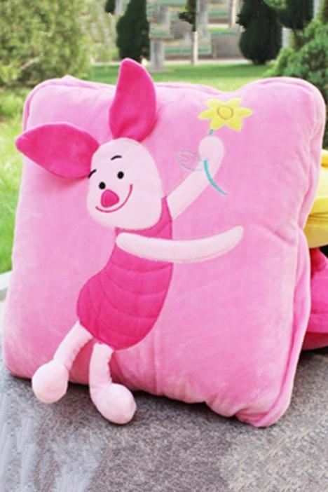 迪士尼米奇米妮皮杰猪跳跳虎维尼熊空调被抱枕靠垫!