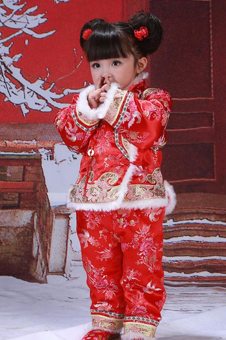 【新年加绒唐装套装保暖】-母婴-唐装_儿童旗袍/唐装