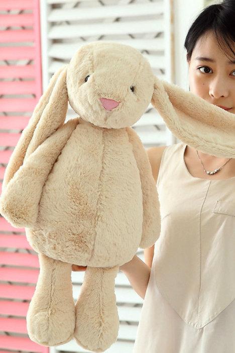 可爱兔子大耳朵毛绒公仔玩具