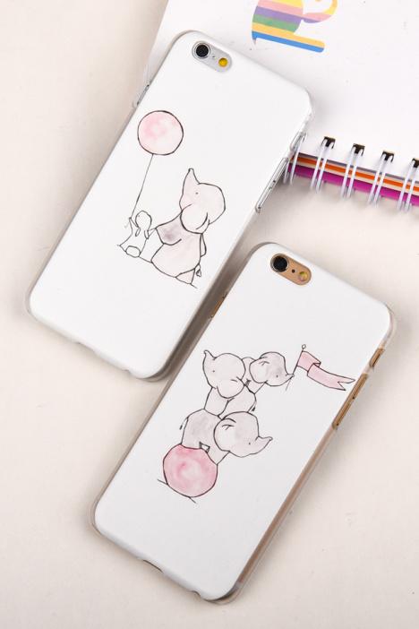 可爱卡通萌小象iphone手机壳