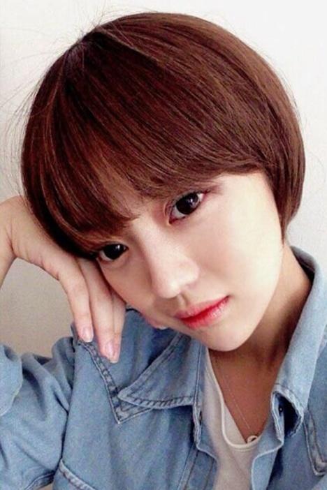 刘海蘑菇头短发bobo头假发整顶全头套韩国高温丝可爱