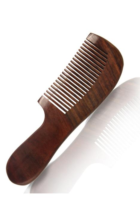【宝磬正品大红酸枝木制梳子粗齿不卡头发不刺头皮送