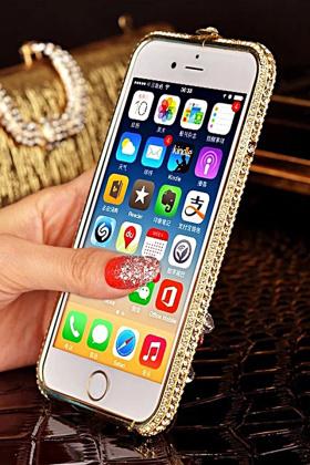 奢华闪钻iphone金属边框
