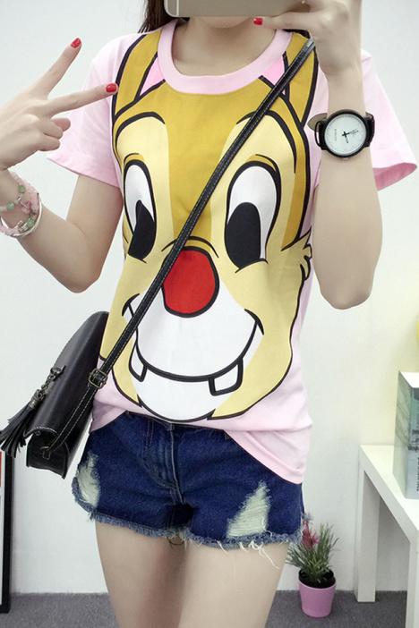 【【乐嘟】卡通动物牙齿短袖t恤】-衣服-t恤