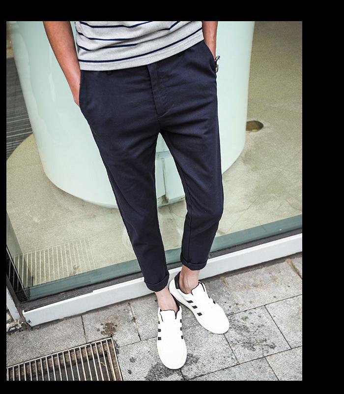 【【王子】创意口袋设计休闲九分裤男】-男装-休闲
