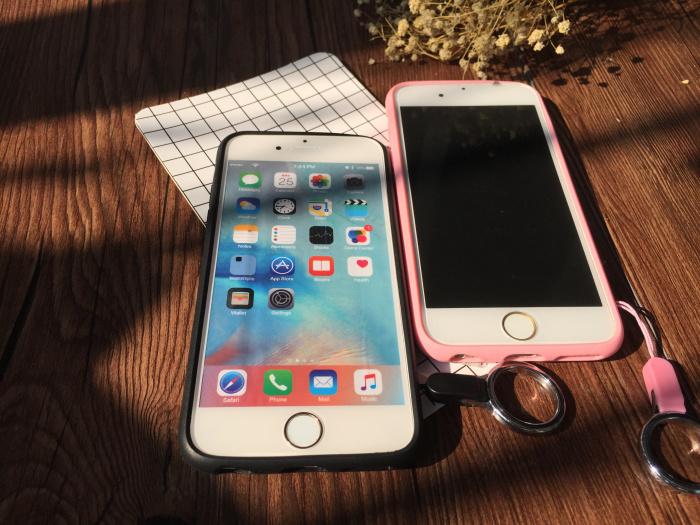 顽皮豹镜面iphone6s/5s硅胶挂脖手机壳