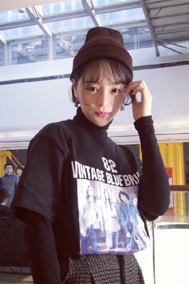 【韩国ulzzang原宿风画立体短袖t恤】-衣服-t恤