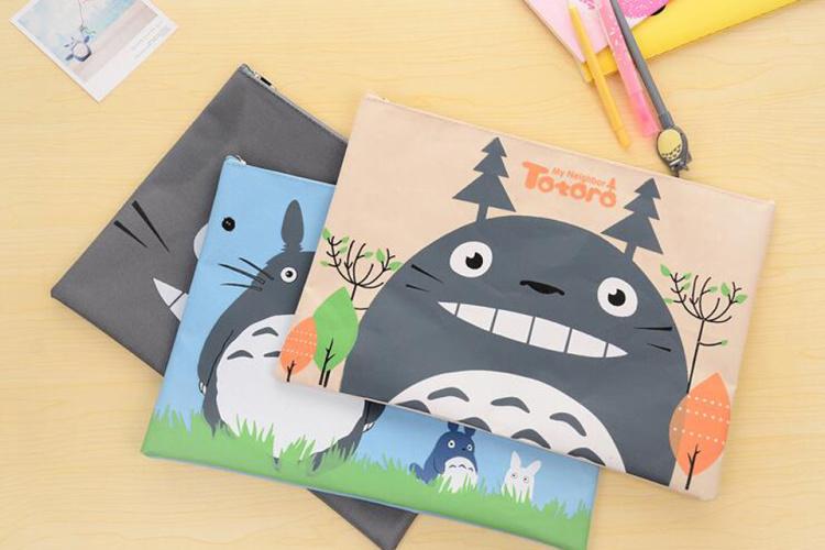 韩版可爱龙猫牛津布文具袋