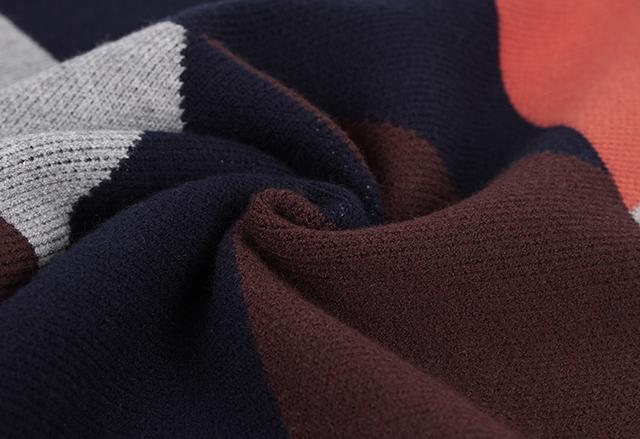 【韩版中长款七巧板拼接毛衣】-衣服-毛衣