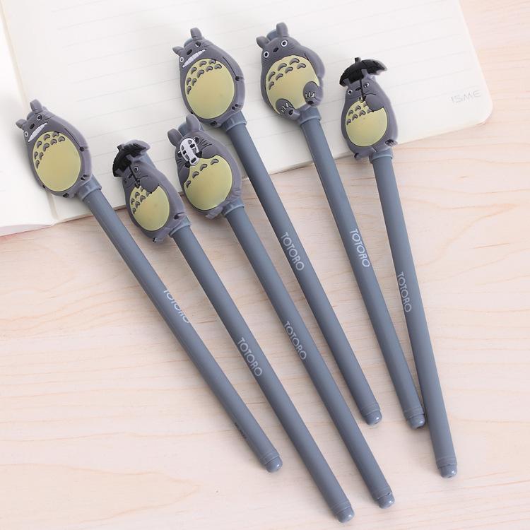 日韩文具4支装可爱龙猫中性笔