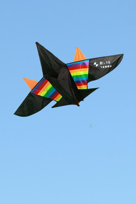 【潍坊 高档 风筝儿童特大立体卡通彩色条飞机配轮线