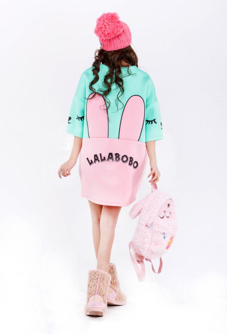 【春装新款可爱卡通兔子孕妇连衣裙】-母婴-连衣裙