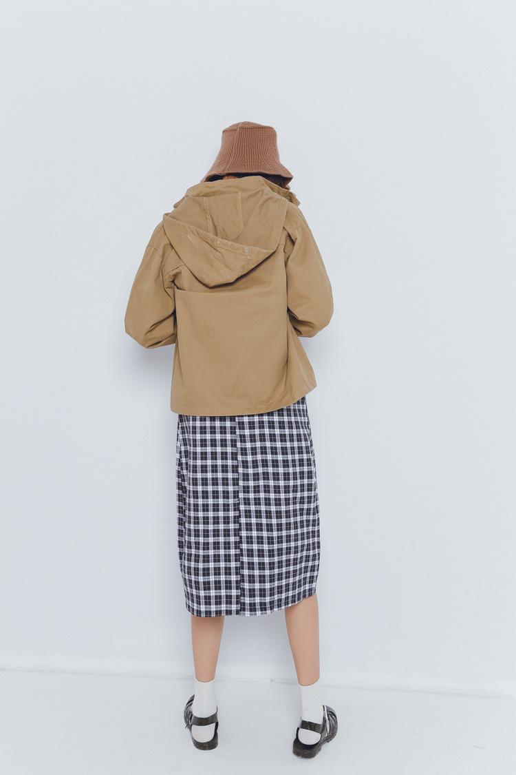 女王大人 2016春季新款带帽森系休闲工装风衣短外套图片