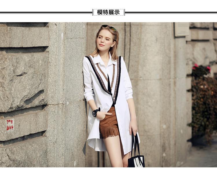 【欧版复古民族风花纹衬衫】-衣服-衬衫