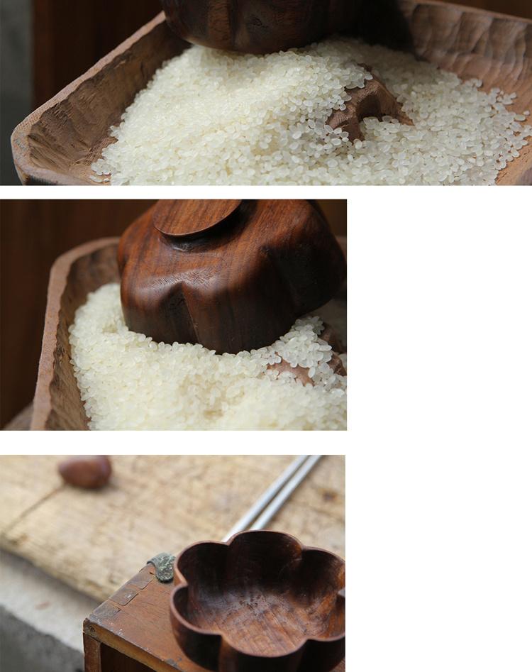 木质汤碗黑胡桃木定制