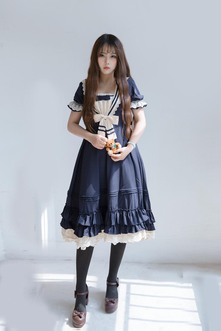 【海军领软妹loli连衣裙】-衣服-连衣裙_裙子_女装_鞋