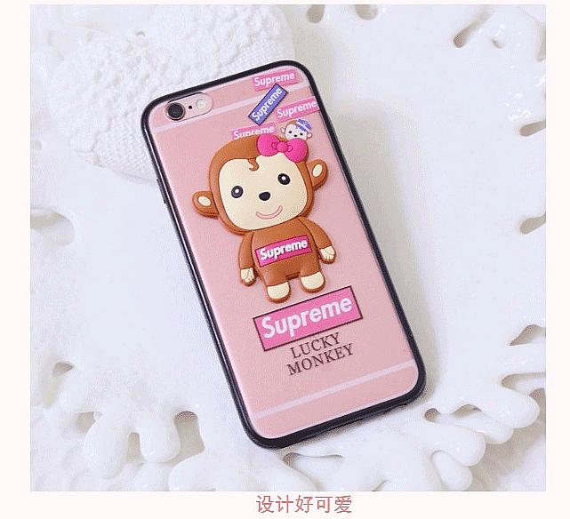 立体卡通可爱小猴子情侣iphone苹果手机壳
