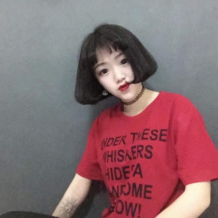 【韩国ulzzang少女装短袖t恤女半截袖闺蜜装】-衣服