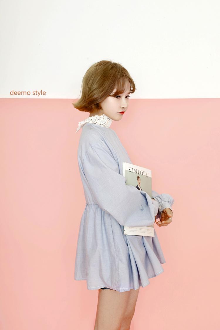 【deemo 韩风蕾丝领可爱娃娃裙衫】-衣服-裙子_连衣裙
