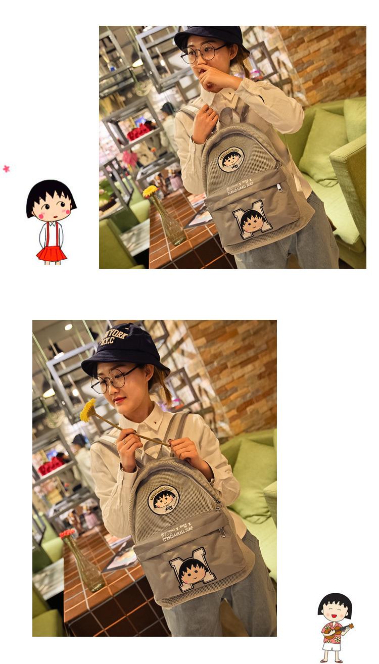 韩国简笔画原宿帆布单肩包女手提袋学生童趣印花环保