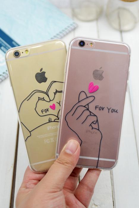 【韩国权志龙黄致列手指爱心手势情侣苹果iphone手机