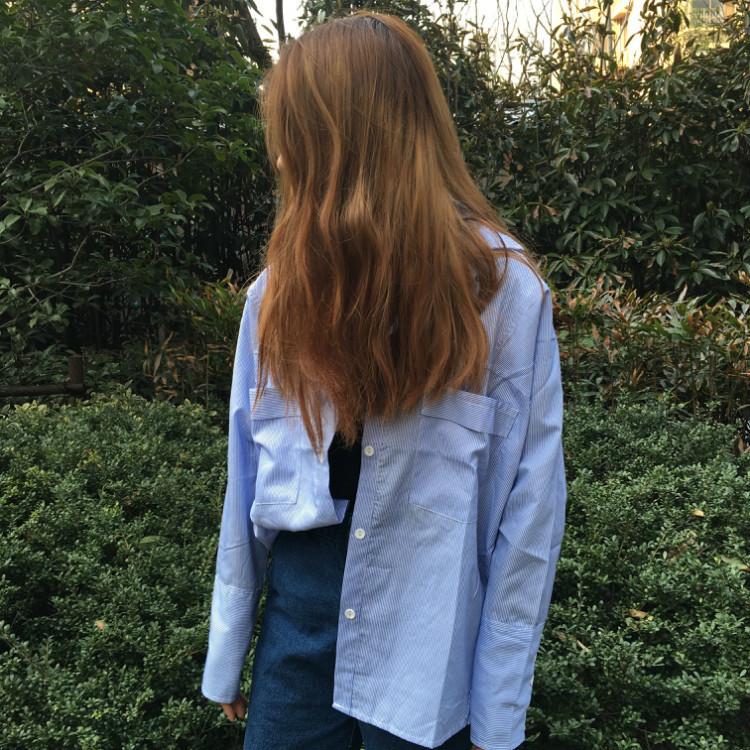 【简约港风条纹口袋衬衫】-衣服-服饰鞋包