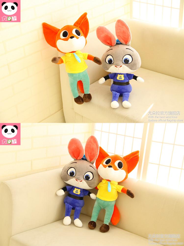 【疯狂动物城兔子朱迪公仔毛绒玩具布娃娃】-母婴