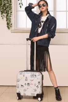 亮鸣简笔画拉杆箱飞机轮拉链密码行李箱20/24寸旅行-行李箱简笔画